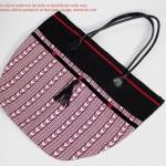 grand sac rouge et noir