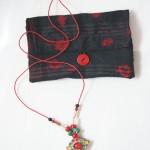 collier lien cuir avec pendentif berbère ancien