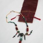 collier esprit byzantin vert et grenat