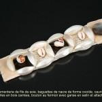 bracelet en nacre et cauris