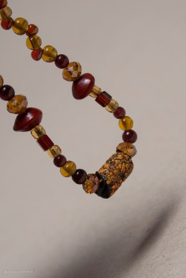bracelet jaune et grenat2