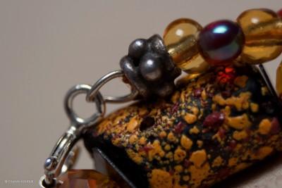 bracelet jaune et grenat3